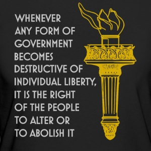 Liberty torch, individual freedom quote libertaria - Women's Organic T-shirt
