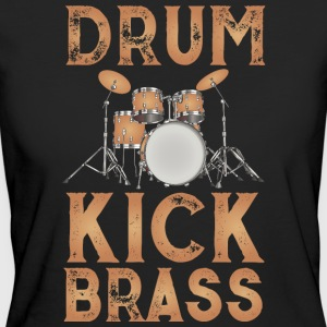 Drum Design Brown - Ekologisk T-shirt dam