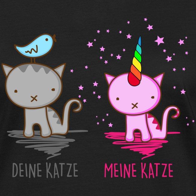 Vorschau: Deine Katze vs. Meine Katze - Frauen Bio-T-Shirt
