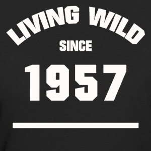 BIRTHDAY 1957 LIVING WILD SINCE 1957 - Women's Organic T-shirt