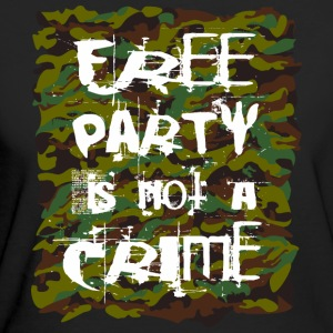 Free party is not a crime - Women's Organic T-shirt