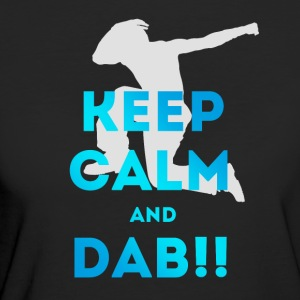 keep calm and dab dance Football touchdown fun coo - Frauen Bio-T-Shirt