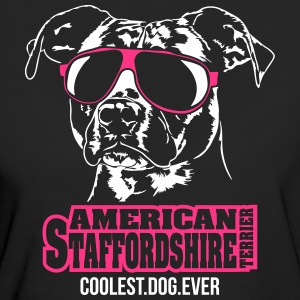 Amerikaanse Staffordshire coolste hond ooit - Vrouwen Bio-T-shirt
