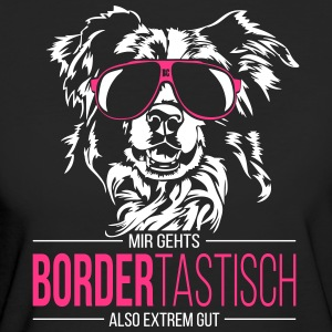 BORDERTASTISCH Border Collie - Frauen Bio-T-Shirt