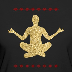 Meditation gold Design - Frauen Bio-T-Shirt
