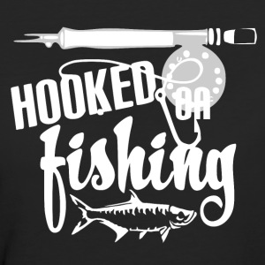 Hooked on Fishing - Fishing - Frauen Bio-T-Shirt
