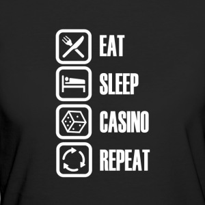 Eat Sleep Casino - Frauen Bio-T-Shirt