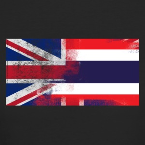 British Thai Half Thailand Half UK Flag - Women's Organic T-shirt