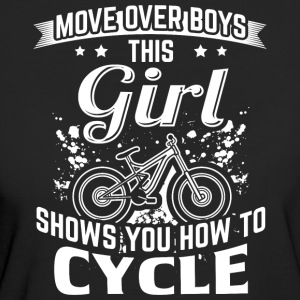 Cycle MOVE OVER this girl shows you - Women's Organic T-shirt