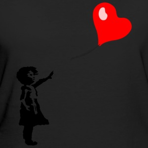 Girl with heart balloon - Women's Organic T-shirt