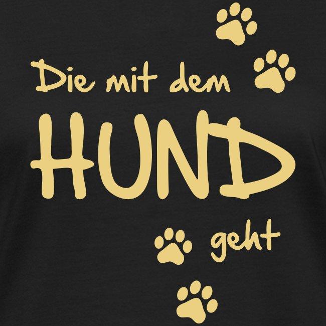 Vorschau: Die mit dem Hund geht - Frauen Bio-T-Shirt