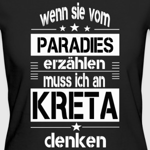 Paradies KRETA - Frauen Bio-T-Shirt
