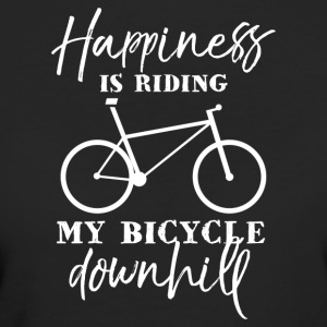 Happiness is riding my bicycle downhill - Frauen Bio-T-Shirt
