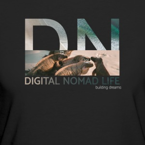 "Digital Nomad ""Iguana"" ~ Black Edition - Vrouwen Bio-T-shirt"