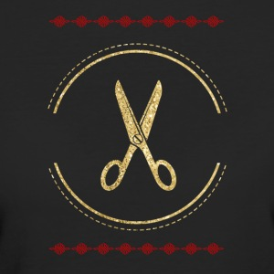Golden scissors hairdresser design - Women's Organic T-shirt