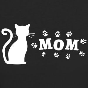 Cat picture with Mom lettering - Women's Organic T-shirt