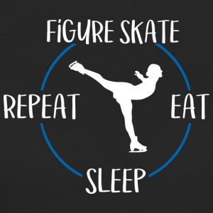 Figura skate, Eat, Sleep, Repeat - T-shirt ecologica da donna