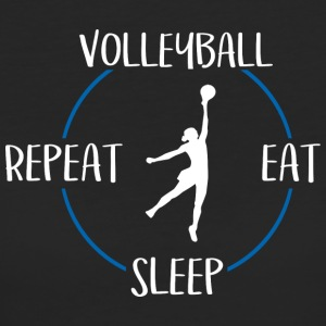Volleybal, Eat, Sleep, Repeat - Vrouwen Bio-T-shirt