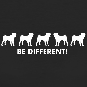 Mops - Be different - Frauen Bio-T-Shirt