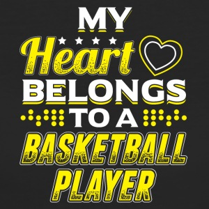 My Heart Belongs To A Basketball Player - Women's Organic T-shirt