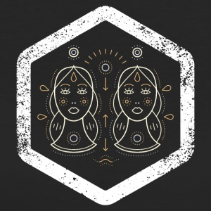 Hexagon · Zodiac Signs · Gemini · Zwillinge - Frauen Bio-T-Shirt