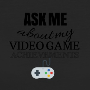Ask me about my video game achievements - Frauen Bio-T-Shirt
