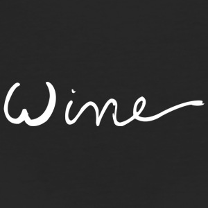 WINE art logo WIT - Vrouwen Bio-T-shirt