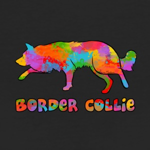 Border Collie Rainbow sky - Women's Organic T-shirt