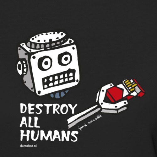 Dat Robot: Destroy Series Smoking Dark - Vrouwen Bio-T-shirt
