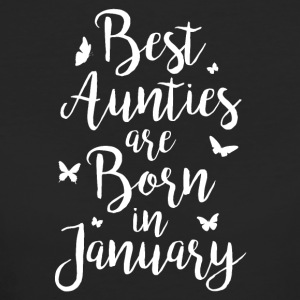 Best Aunties are born in January - Frauen Bio-T-Shirt