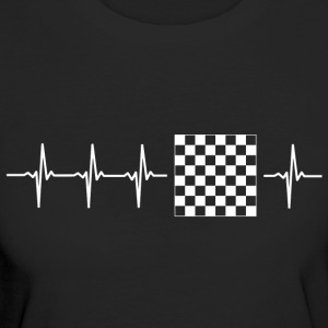 I love chess (chess heartbeat) - Women's Organic T-shirt