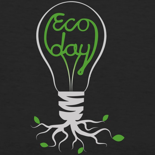 Logotyp Ecoday genomskinlig för mörk bakgrund png