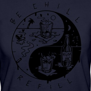 be chill refill ying yang - Frauen Bio-T-Shirt