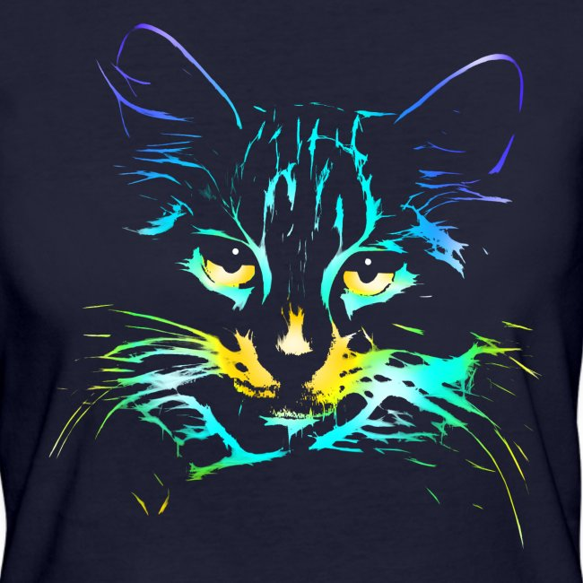 Vorschau: color kitty - Frauen Bio-T-Shirt