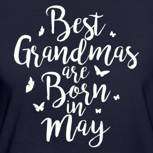Best Grandmas are born in May - Frauen Bio-T-Shirt