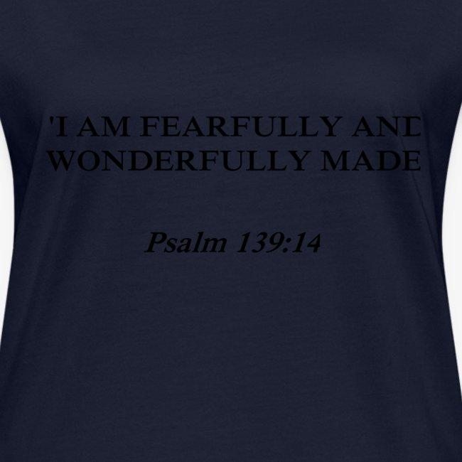 Psalm 139:14 black lettered