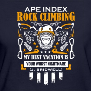 ApeIndex Rock Climbing Orange - Vrouwen Bio-T-shirt