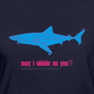 "Hungry shark ""may i nibble on you?"" - Women's Organic T-shirt"
