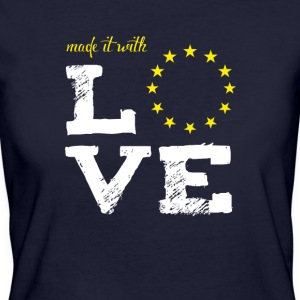 made it with love EU europe baby birth taufe star - Frauen Bio-T-Shirt