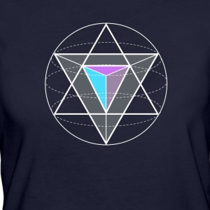 triangular circular geometry math nerd hipster Game gee - Women's Organic T-shirt