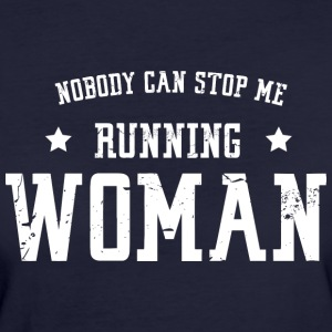Nobody can stop me - running woman - Frauen Bio-T-Shirt