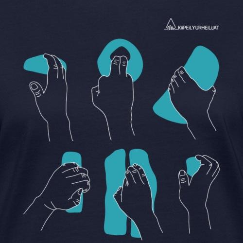 'Otteet' Turquoise-White Ladyfit - Naisten luonnonmukainen t-paita