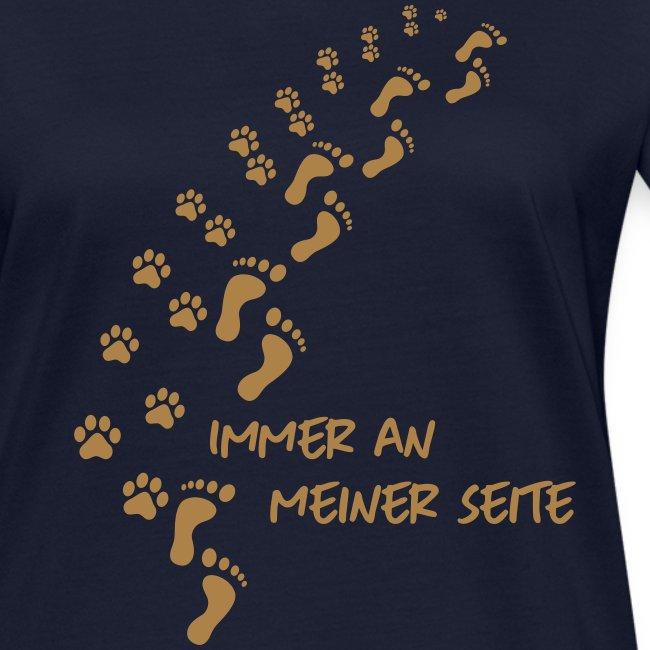 Vorschau: Immer an meiner Seite - Mein Hund und Ich - Frauen Bio-T-Shirt