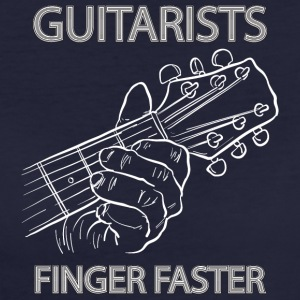 Guitarists finger faster - musik - Frauen Bio-T-Shirt