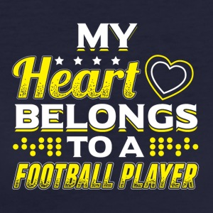 My Heart Belongs To A Football Player - Frauen Bio-T-Shirt