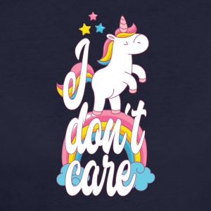 I don´t care - Einhorn - Frauen Bio-T-Shirt