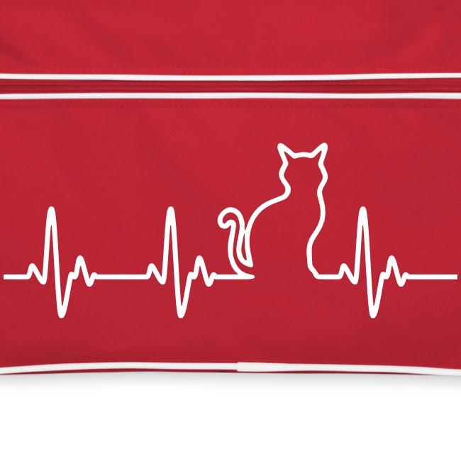 Vorschau: Ein Herz für Katzen - Retro Tasche