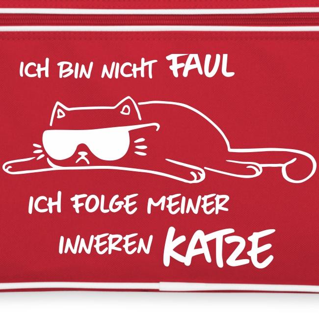 Vorschau: Faul inneren Katze - Retro Tasche