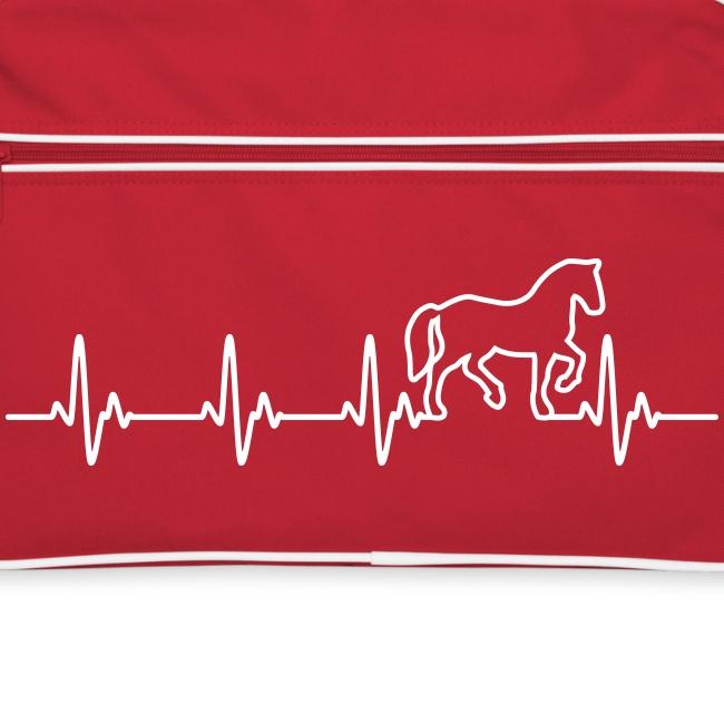 Vorschau: Horse Heartbeat - Retro Tasche