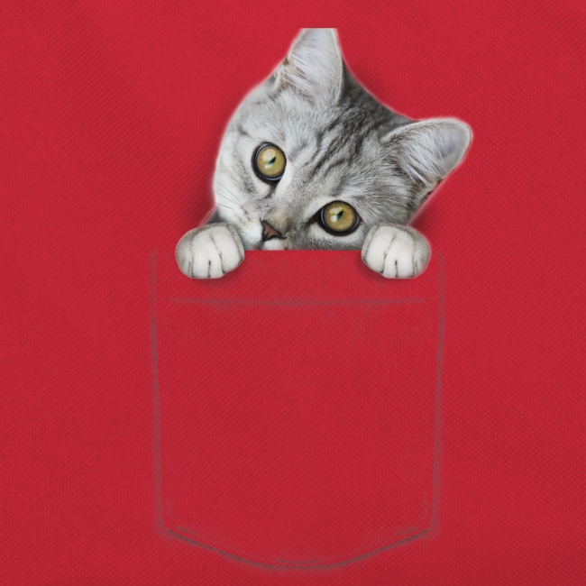 cat pocket - Retro Tasche